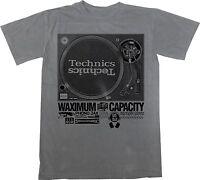 Technics 1200 T-shirt, DJ T-Shirt, Music, Dee Jay, Turntablism, Hip-Hop, Grey