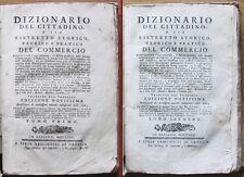 DIZIONARIO DEL CITTADINO O SIA RISTRETTO STORICO DEL COMMERCIO_Remondini, 1781*