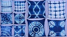 20 PC Wholesale Lot Indigo Blue Cushion Cover Tie Dye Cotton Decor Pillow Case