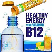 (20 CT.) ZIPFIZZ ENERGY DRINK MIX LEMON ICED TEA, ZERO SUGAR, GLUTEN FREE, B-12