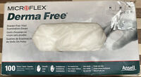 Disposable Gloves Vinyl Medium 100/box Derma Free Microflex Smooth Powder-free