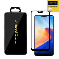 SOINEED OnePlus 6 FULL COVER Tempered Glass Screen Protector (Black)
