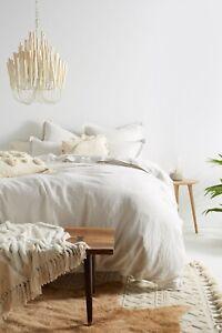 Anthropologie Relaxed Cotton-Linen Duvet Cover Size King