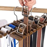 Tie Belt Scarf Rack Organizer For Closet Wardrobe Space Saver 10 Belts Hanger