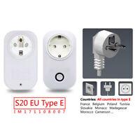 Sonoff S20 WIFI Smart APP Remote Control Timer Socket EU-E Plug Home Automation