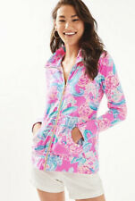 NWT Lilly Pulitzer Leona Zip Up Pinking Positive Size M