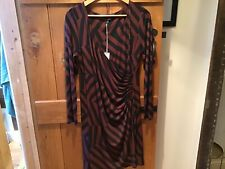 Laura Ashley Brown And Black Fitted Style dress 16