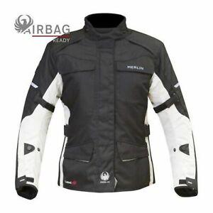 Merlin Aurora 2-In-1 Motorcycle Motorbike Waterproof Mesh Jacket - Black/Ice