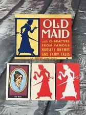 Old Maid Card Game Includes Little Black Sambo Cards All-Fair Fairchild Corp