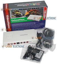 Convertitore da Video RCA SCART a Monitor VGA VideoHome DeluxeView FULL HD 1080p