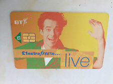 USED £5 LIVE +£1 EXTRA FREE BT PHONECARD