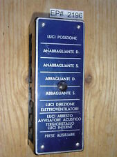 Ferrari 250 225 212 195: 8 Fuse Box Electrical Board