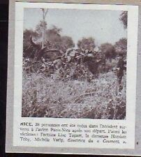 1952  --  NICE  ACCIDENT DE L AVION PARIS NICE  G911