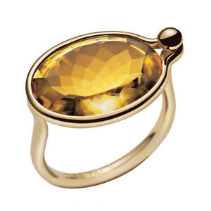 Georg Jensen Gold Ring with Citrine - Savannah #1506 - MADE IN DENMARK