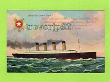 White Star Liner SS Titanic unused colour postcard National