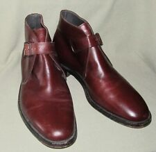 Vintage Nettleton Leather Monk Strap Buckle Ankle Boots Brown 10.5 D Made In Usa