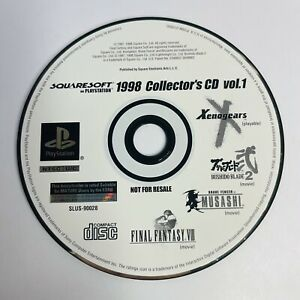 1998 Squaresoft Collector's CD Vol. 1 (Sony Playstation 1 PS1) Nice Shape Tested