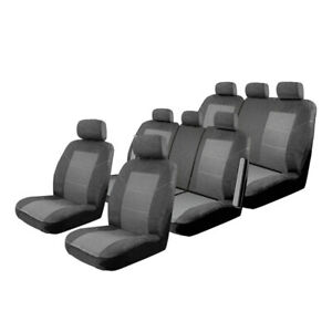 Custom Seat Covers suits Kia Carnival YP 2/2015-On 3 Rows Deploy Safe Charcoal