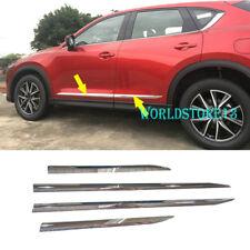 fit 2017 2018 Mazda CX-5 CX5 Chrome Body Side Door Moulding Cover Trim 4pcs