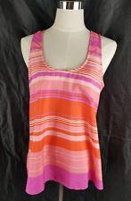 Forever New Women's Pink Orange Summer Striped Singlet Tank Sleeveless Size 10