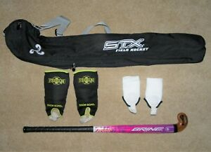"Field Hockey Bundle BRINE Fusion 32"" Stick, STX Bag, Ankle Guards & Shin Guards"