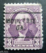 Sc # 720 ~ 3 cent Washington by Gilbert Stuart, Precancel, MOULTRIE GA.