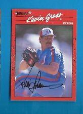 KEVIN GROSS Autograph 1990 DONRUSS Auto Signed EXPOS