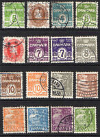 Denmark 1927-40 Selection of Used Stamps (5379)