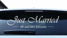 Just married personnalisé autocollant personnalisé mariage voiture fenêtre autocollant decal