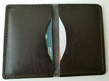 Credit Card holder Faux Leather Brown Small