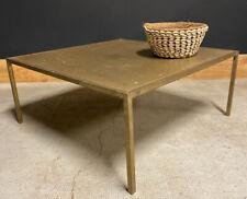 Table Basse Laiton Design Moderniste 1950 Scandinave Vintage Maison Charles