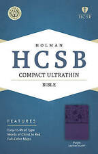 NEW HCSB Compact Ultrathin Bible, Purple LeatherTouch