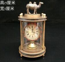 European Exquisite Brass &Glass The camel Classical Mechanical Clock OSB18-g