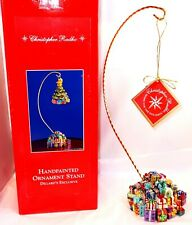 Christopher Radko Ornament Stand Hand Painted Christmas Presents Gifts In Box
