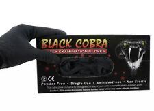 Black Cobra Latex Gloves -100 Tattoo Gloves Size Large