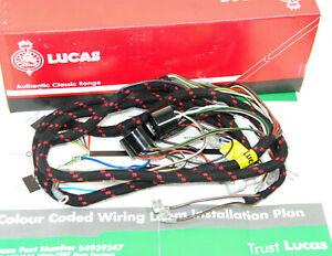 BSA A50 A65 wiring harness cloth bound 1966/7 54949347 WW19219 C173I Kabelbaum