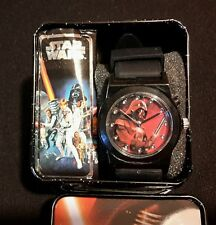 Disney Star Wars DARTH VADER Rubber Strap Watch Accutime Analog Light Up Dial