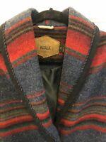6. Vintage Small Woolrich Barn Indian Blanket Striped Southwest Jacket Coat USA