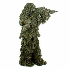 AUSCAMOTEK Ghillie Suit for Men Gilly Suit for Hunting M/L Green