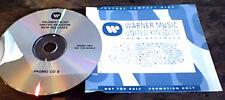 Warner Promo Only UK CD Sampler 1991 RARE The Bee Gees Debbie Gibson Terry Reid