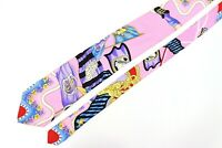 GIANNI VERSACE COUTURE SPORT MEDUSA BAROQUE PINK 100% Silk Tie Italy Vintage 90s