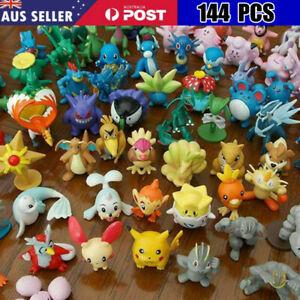 144 PCs Pokemon Pikachu Monster Collectible Action Figures Doll Set Kids Toys AU