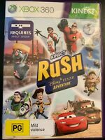 KINECT RUSH A DISNEY PIXAR ADVENTURE XBOX 360 AUS PAL INCREDIBLES CARS TOY STORY