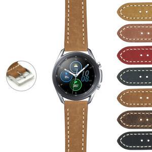 StrapsCo Vintage Leather Watch Band Strap for Samsung Galaxy Watch 3