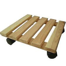 Carrellino carrello portatutto in legno con ruote 35x35 cm porta vasi piante
