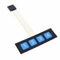 Matrix Tastatur für Arduino Raspberry Keypad 4 Tasten Keyboard Membran Neu