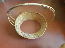 Oval COUNTRY Woven Cane WICKER BASKET Strap Handle Fruit Gift Arrangement Egg