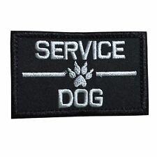 Service Dog, K9 Dog Embroidered Tactical Morale Hook & Loop Patch Black