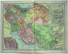 Original 1926 Map of Persia by George Philip. Iran. Vintage