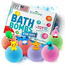 Handmade Bath Bombs for Kids with Surprise Toys Inside -100% Natural and Organic